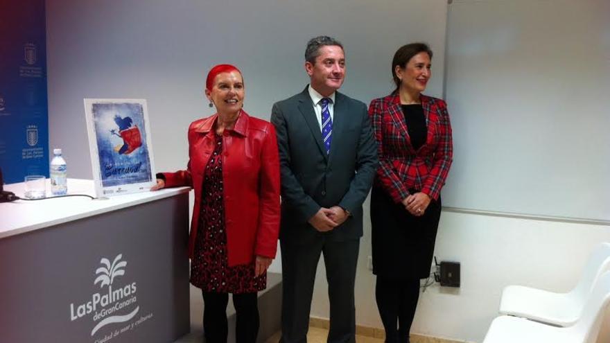 Isabel García Bolta, Willy García y Mapi Quintana.
