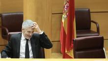 Grande-Marlaska en un pleno del Senado.