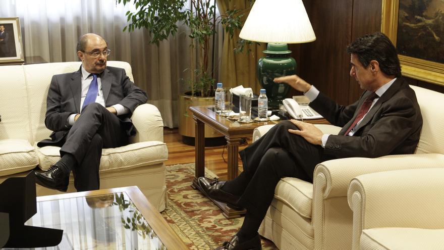 Reunión de Javier Lambán con el exministro José Manuel Soria.