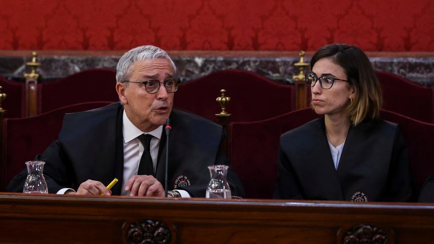 Xavier Melero, abogado de Joaquim Forn, en una intervención en la primera jornada del juicio del procés.
