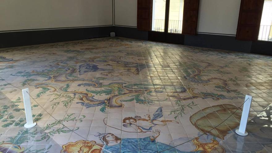 El Salón de la Fama, con su espectacular pavimento del año 1757