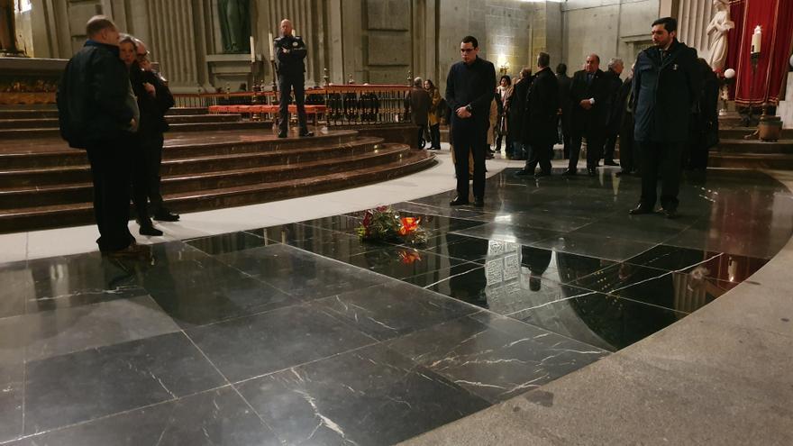 Lugar en el que estaban los restos mortales de Franco antes de ser exhumado el pasado octubre.