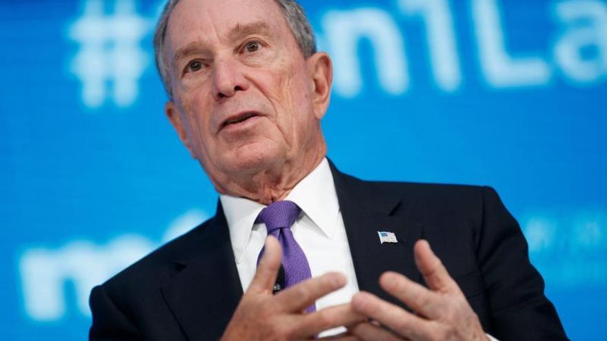 En la imagen, el exalcalde de Nueva York Michael Bloomberg.