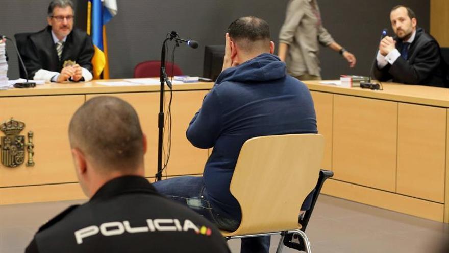 Aythami Rubén R.M. en el juicio en el que aceptó 42 años de prisión tras confesar que acosó sexualmente a 17 menores