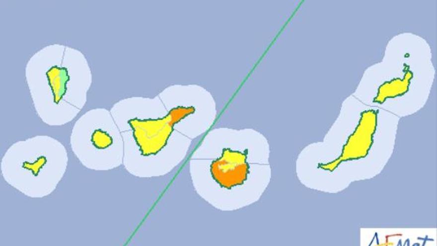 Aviso naranja en Gran Canaria y Tenerife por altas temperaturas.
