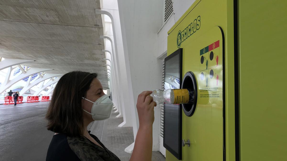 Una de las nuevas máquinas instaladas en la Ciudad de las Ciencias.