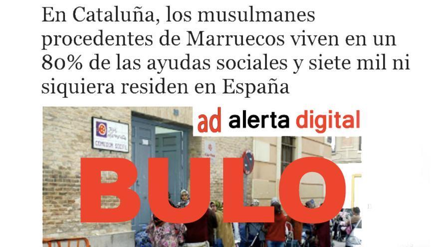 No, no hay pruebas de que los musulmanes procedentes de Marruecos vivan en un 80% de las ayudas sociales y que siete mil ni siquiera residan en España