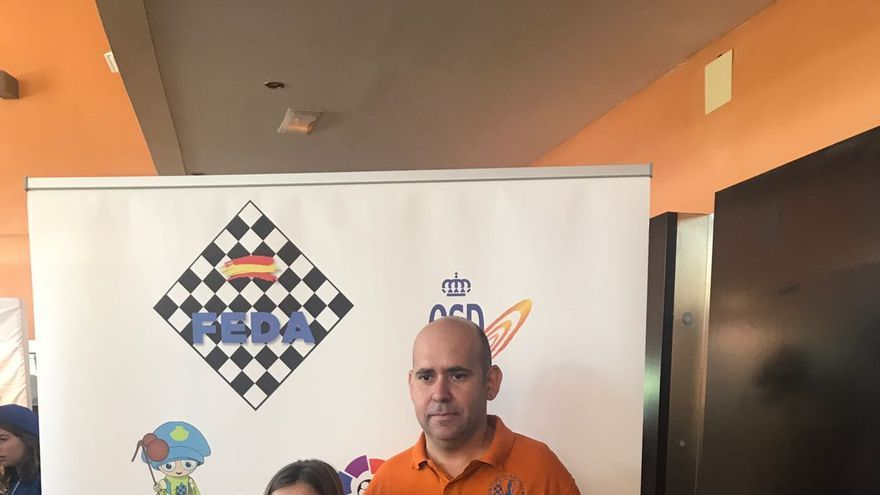 Sofío Otero con Isidro Cruz.