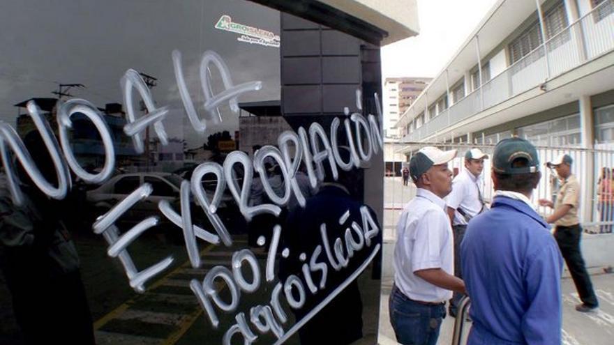 Protestas esta semana de los trabajadores de AgroIsleña. (ACFI PRESS)