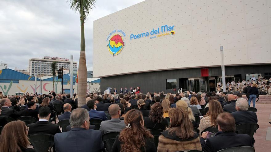 Inauguración del Poema del Mar. (Alejandro Ramos).