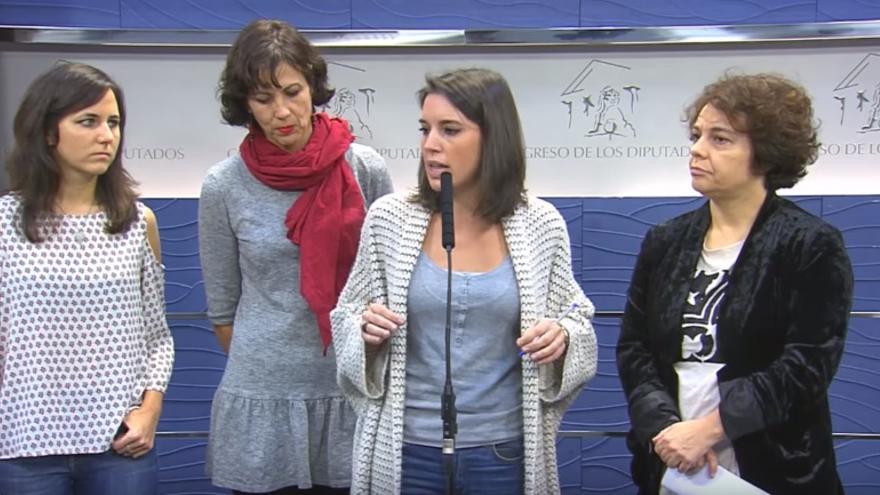 Captura de pantalla de la rueda de prensa de los portavoces de Podemos | Foto: Podemos Congreso