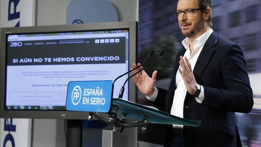 """El PP pide al PSOE repetir en España la """"gran coalición"""" que hubo en Euskadi"""
