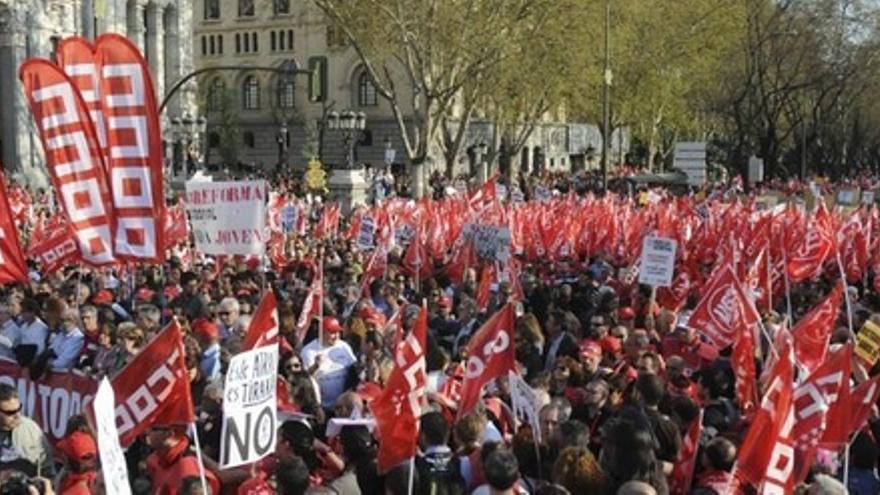 Huelga general 2012. Foto: Comisiones Obreras