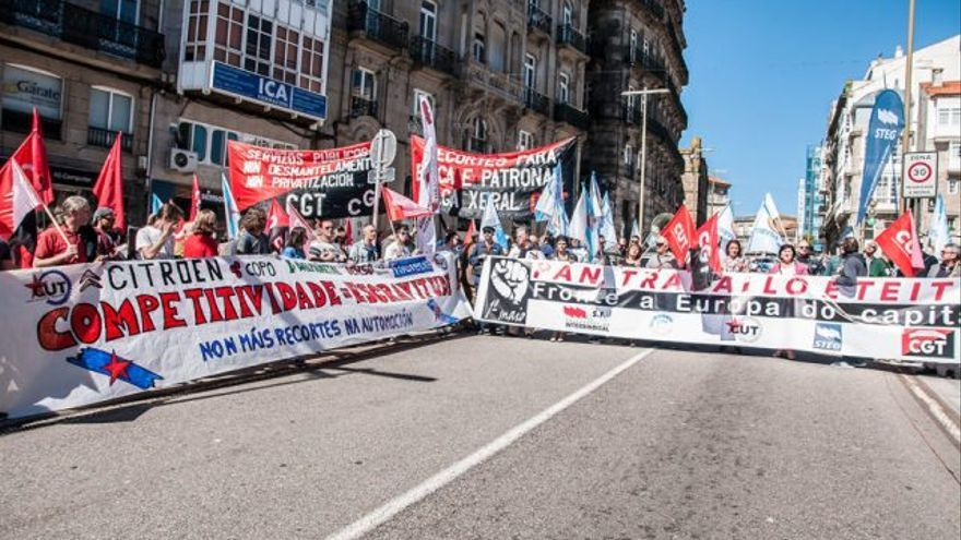 Manifestación de la CUT en Vigo el Primero de Mayo. Imagen de archivo.