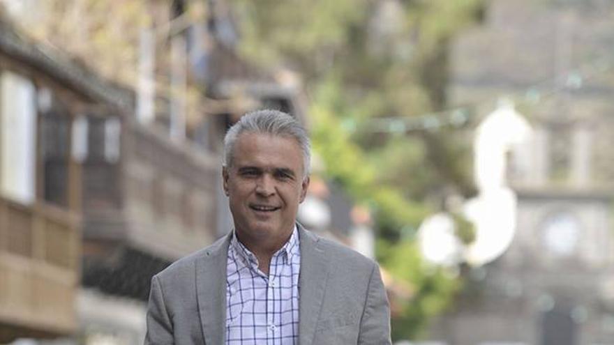 El alcalde de Teror, Gonzalo Rosario.