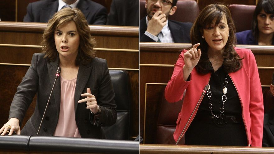 El PSOE echa en cara al Gobierno las críticas de Aznar y los barones y Santamaría le recuerda su crisis interna