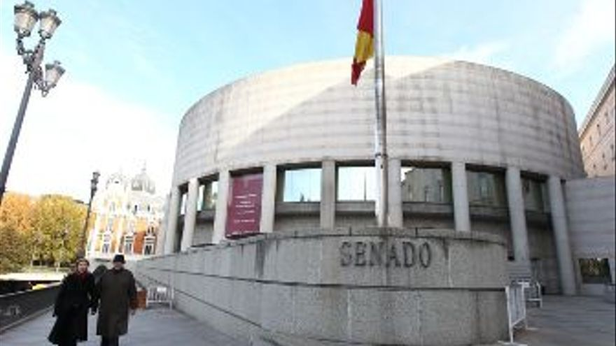 Exterior del Senado. (EUROPA PRESS)