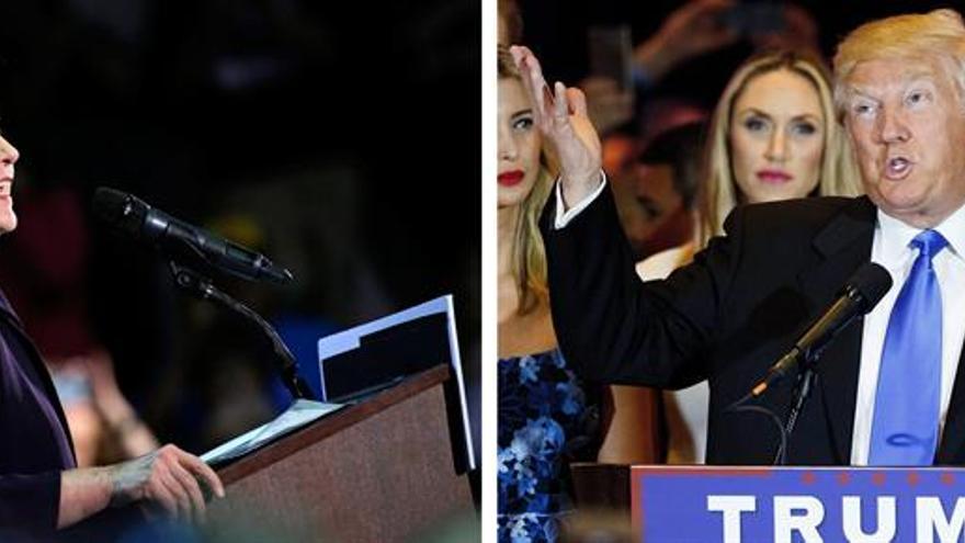 Una nueva encuesta sitúa a Trump por delante de Clinton en las presidenciales
