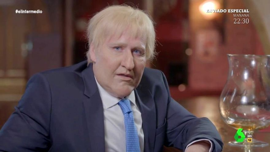 Joaquín Reyes como Boris Johnson en 'El Intermedio'
