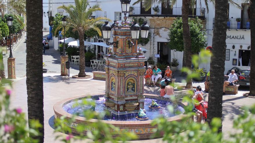 Plaza de España, en Vejer.
