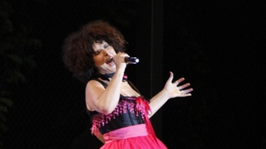 La cantante Rosa López durante una actuación