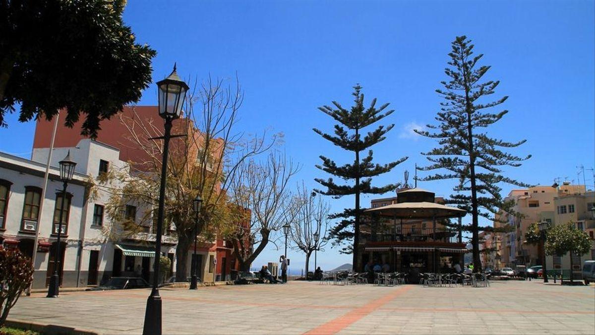 Imagen de archivo de la Plaza de Montserrat de San Andrés y Sauces. Foto: palmerosenelmundo.com