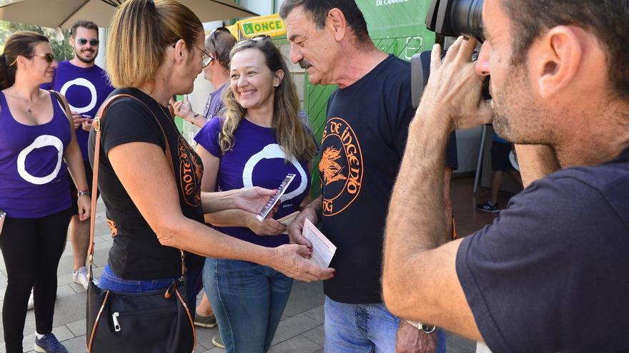 Victoria Rosell, en un acto de su partido en Gran Canaria