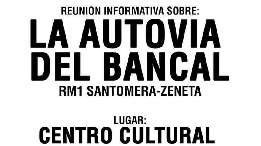 Municipios murcianos se unen contra la Autovía del Bancal