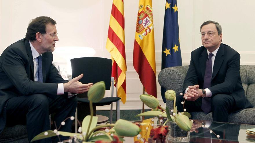 """Draghi dice que """"está en manos del Gobierno español"""" pedir ayuda"""