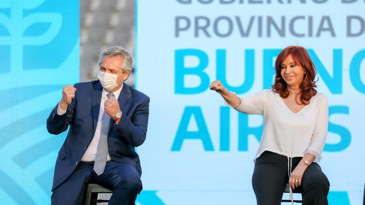 Alberto Fernández y Cristina Fernández de Kirchner el viernes pasado, en La Plata