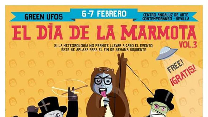 Cartel de El día de la marmota, Sevilla 2016.