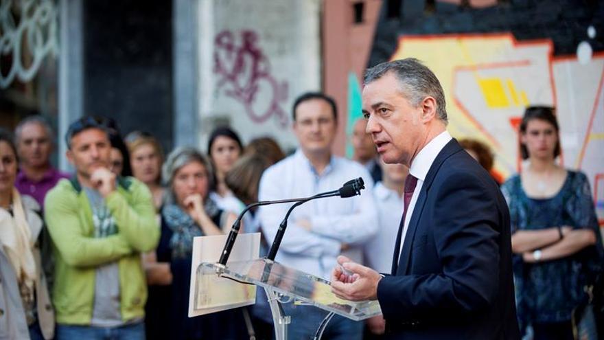 El lehendakari, Iñigo Urkullu, durante su intervención en un acto electoral.