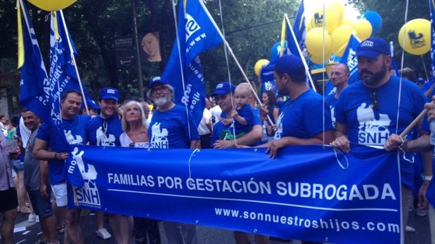 La plataforma Son Nuestros Hijos acudió a la manifestación del Orgullo Gay para reivincidar su modelo de familia.