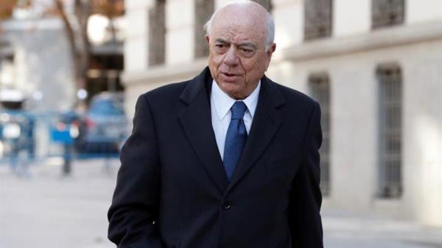 El expresidente del BBVA Francisco González a su llegada a la Audiencia Nacional.