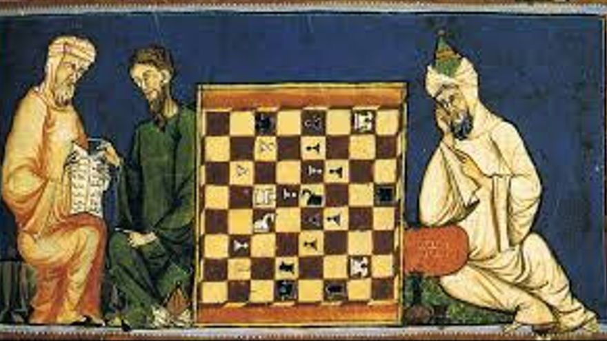 Tablero de Shatranj de la época de Alfonso X El Sabio.