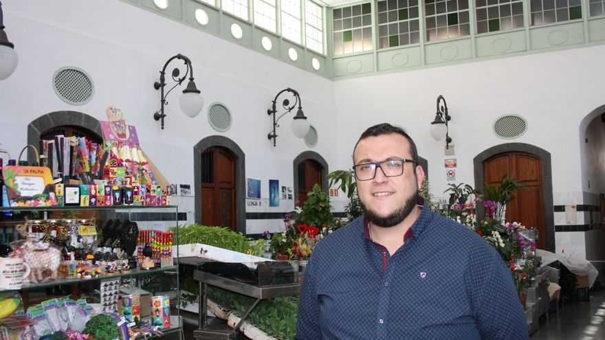 Juan José Neris, concejal de Mercado de Santa Cruz de La Palma, en La Recova.