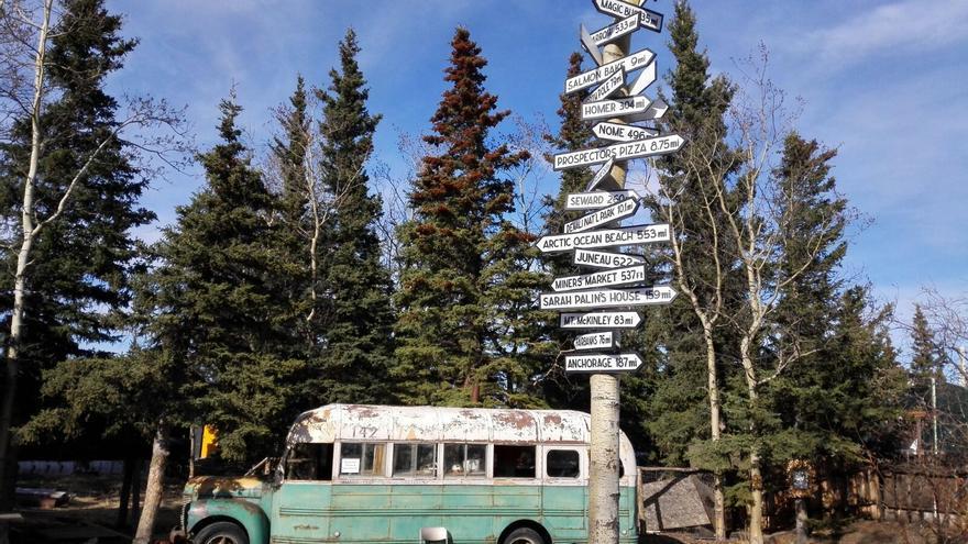 Réplica del autobús de Christopher McCandless en Healey, Alaska