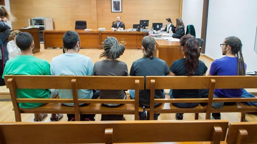Los repobladores de Fraguas durante el juicio