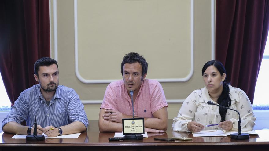 El alcalde de Cádiz, en la rueda de prensa de este miércoles.