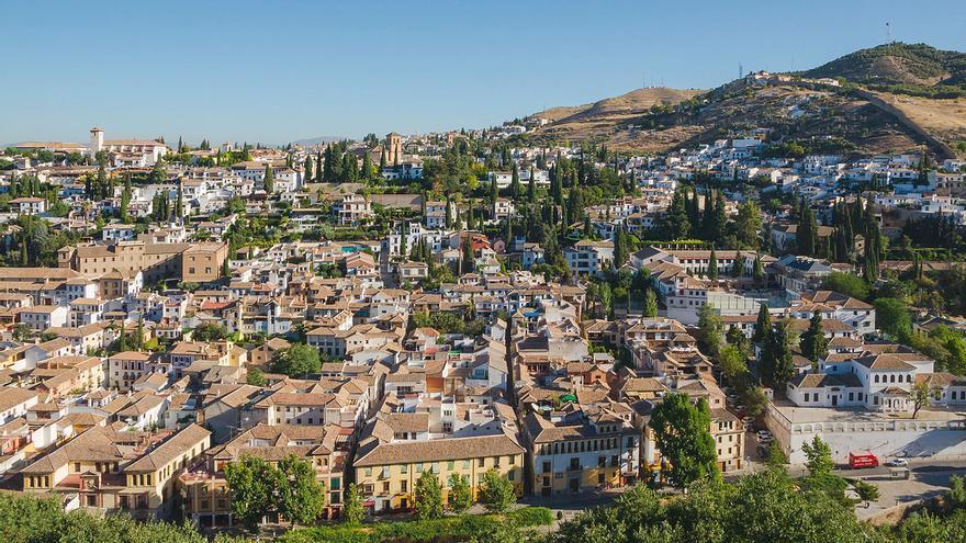 Vista actual del Albaicín-Sacromonte de Granada