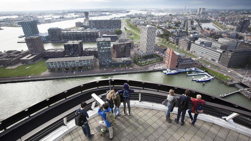 Rotterdam desde las alturas