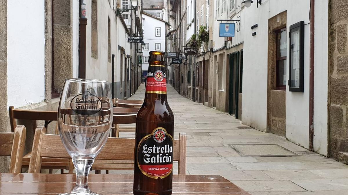 Terraza del centro histórico de Santiago de Compostela