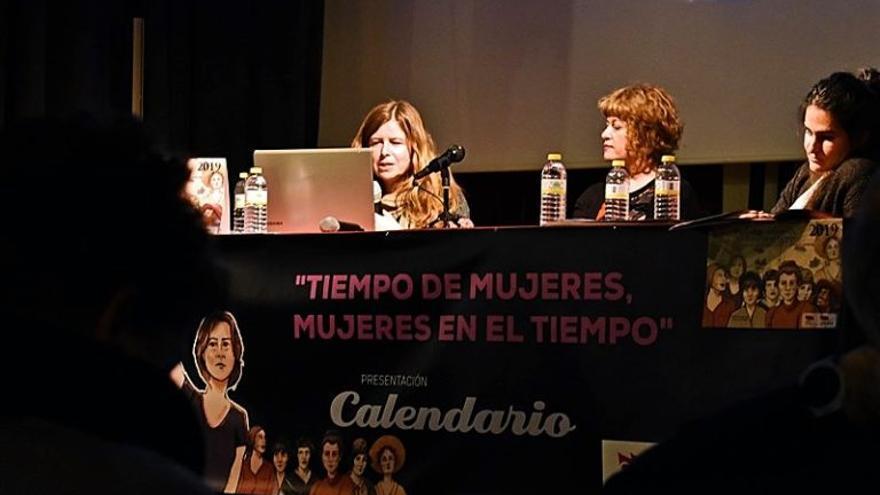 Lourdes López Martínez en su intervención durante la presentación del calendario / Bárbara D. Alarcón