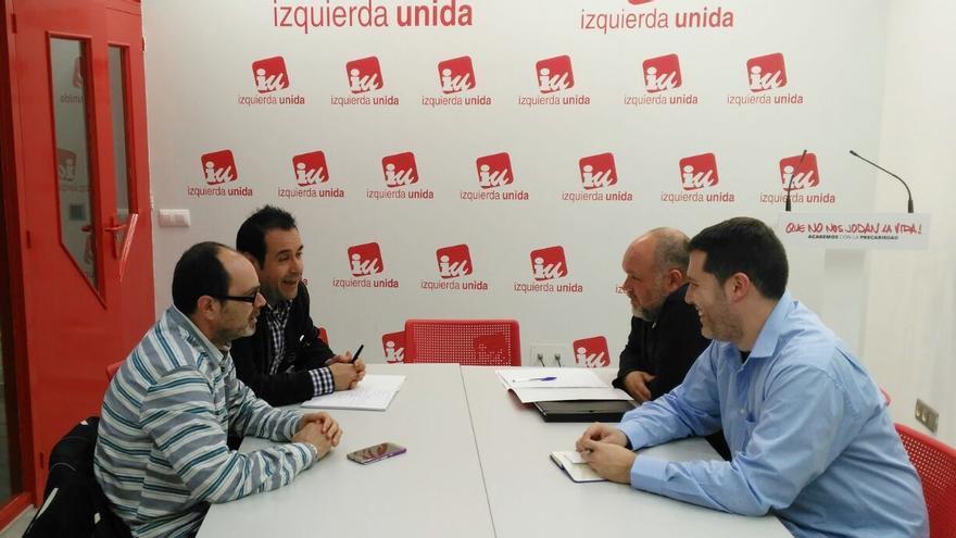 Reunión de IU Castilla-La Mancha y Partido Castellano