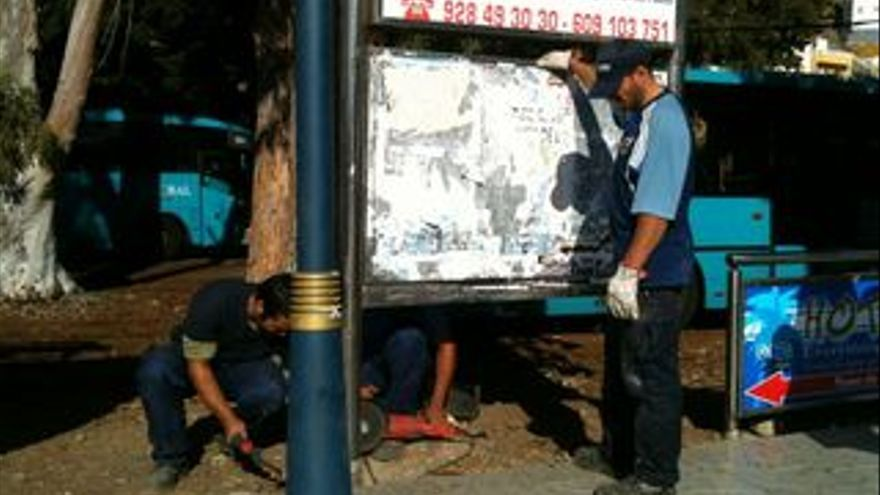 Retiran las carteleras municipales de Mogán