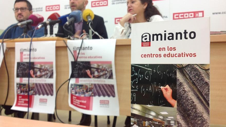 Rueda prensa CCOO sobre las jornadas de amianto en los centro escolares.