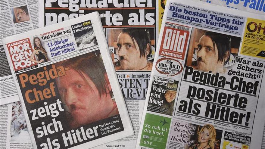 Dimite el líder de la islamófoba Pegida tras su foto disfrazado de Hitler