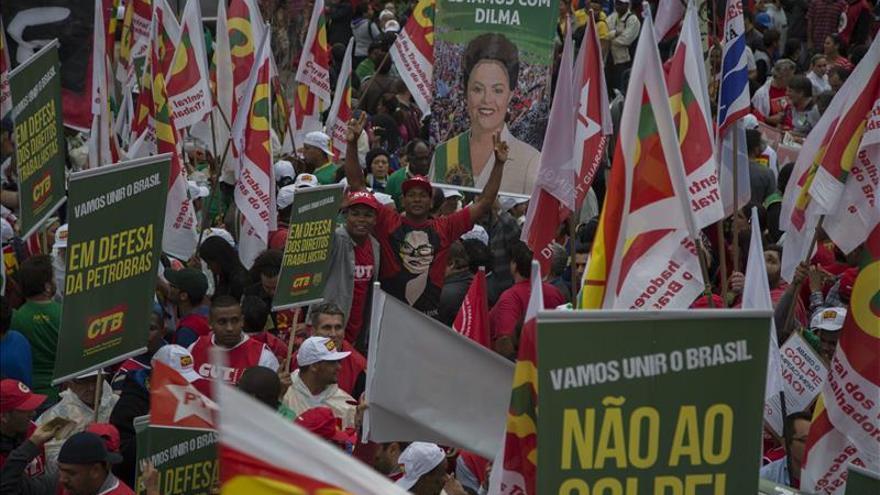 El Brasil que no quiere a Rousseff y el que la apoya se medirán en las calles