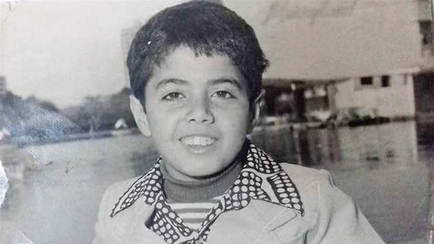Ramzy Baroud en segundo grado durante una visita al Cairo en 1970