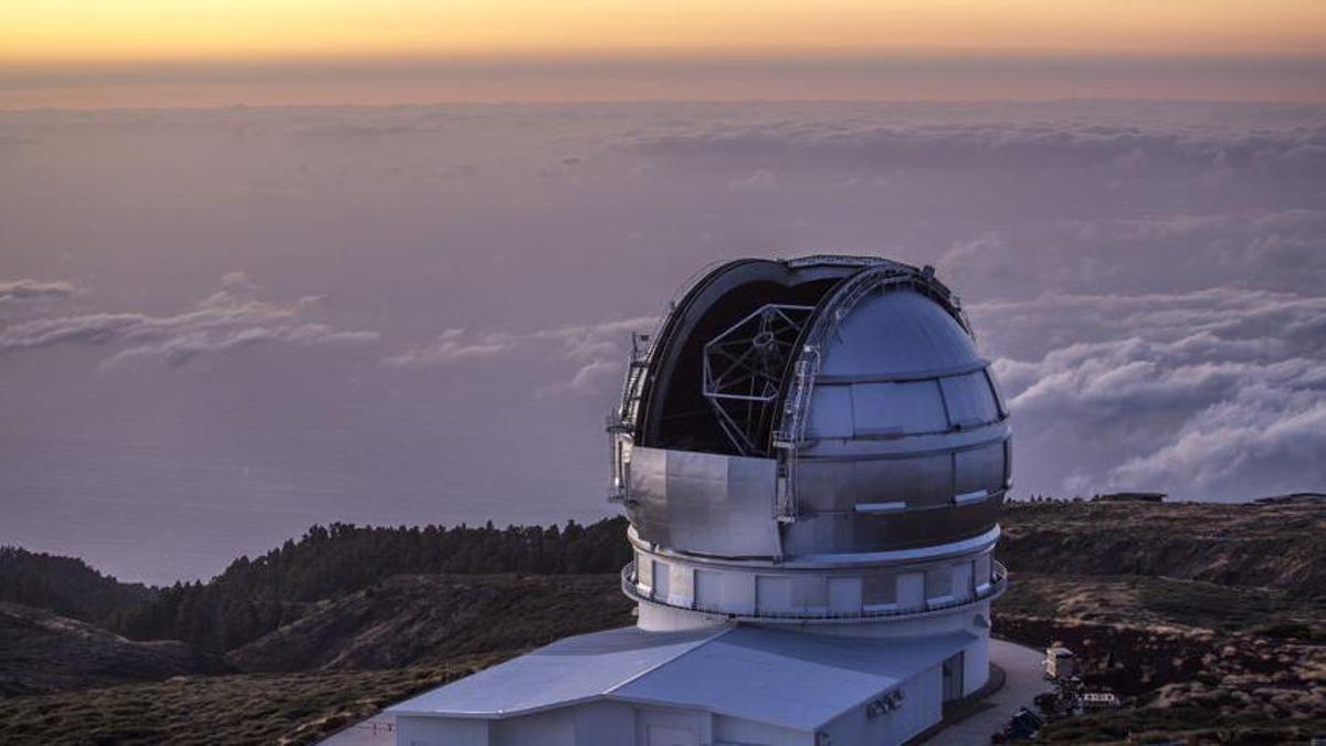 Imagen de archivo del Gran Telescopio Canarias, en el Observatorio del Roque de Los Muchachos, en las cumbres de Garafía.